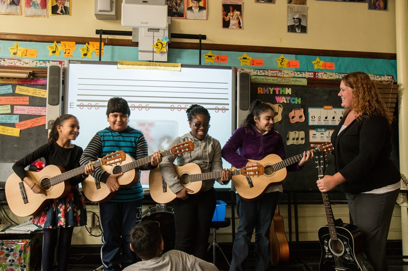 Guitar class, Education Through Music