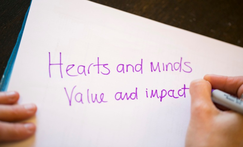 Copywriting - Hearts and minds, value and impact